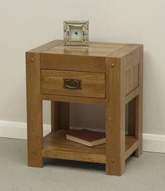 Quercus Solid Oak Furniture Range Occasional Table | Oak Lamp Table Oak Furniture Land www.oakfurnitureland.co.uk