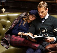 Ivy League ~ Varsity sweater, plaid and cashmere