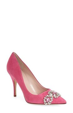 Free shipping and returns on kate spade new york 'larsa' pointy toe pump (Women) at Nordstrom.com. A burst of faceted crystals flash and shimmer on a glamorous pump fashioned with a pointed toe and slender stiletto heel.