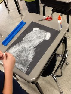 Chalk Polar Bear Picture  First Grade Critter Cafe': Feature Flamingo, and the ART of Powerful Polar Bears