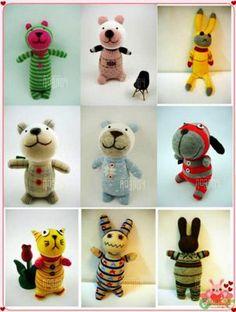 Huey Sim's Handmade: #Sock Animals #upcycle #softie