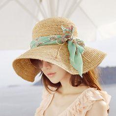 Pure Handmade Crocheted Summer Sun Hats For Women New Fashion Sombreros Wide Brim Beach Side Cap Floppy Female Laffey Straw Hat Women's Dresses, Large Brim Hat, Sombrero A Crochet, Hats For Big Heads, Floppy Straw Hat, Straw Hats, Sun Hats For Women, Women Hats, Crochet Woman