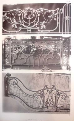 art nouveau decorative ironwork | ... Ostereich Ungarn , ANTON] - Irving Zucker Art Books - Zucker Art Books