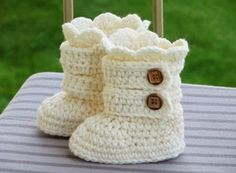 These adorable little buttoned Crochet Baby Snow Boots will make a beautiful gift that is sure to be treasured.