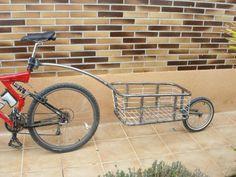 Carro de viaje casero, usando una barra de remolque de niños Trail-gator. « Foro de cicloturismo y viajes en bicicleta