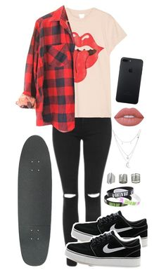 """""""Sin título #346"""" by ferlovespocito on Polyvore featuring moda, Topshop, MadeWorn, Charlotte Russe, NIKE y Lime Crime"""