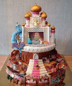 This Aladdin cake could show you the world... | These Disney Themed Cakes Are Going To Be The Best Things You've Seen All Day