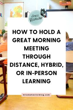 Learn how to adapt your daily morning meeting so it works for in person or distance learning! Check out tips, resources, and a sneak peek into the year-long morning meeting slides product available on Teachers Pay Teachers. Cooperative Learning Activities, Learning Resources, Classroom Activities, Classroom Ideas, Coping Skills, Social Skills, Morning Meeting Activities, Teaching Special Education, Responsive Classroom