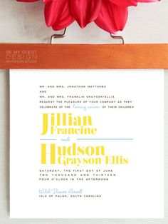 JILLIAN Classic #Wedding #Invitation Suite by BeMyGuestDesign. #stationery