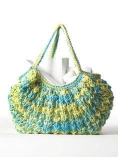 Market Bag to Knit | Yarn | Free Knitting Patterns | Crochet Patterns | Yarnspirations