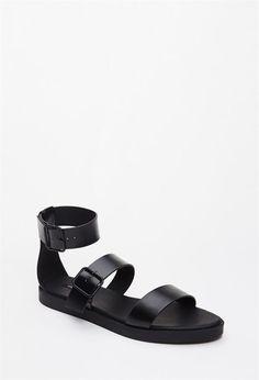 4118a663b95 Forever 21 Buckled Flatform Sandals