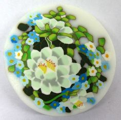Polymer clay bouquet of flowers cane by tamishvat
