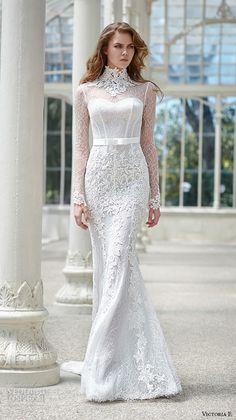 val stefani spring 2016 wedding dresses fit flare trumpet elegantl mermaid gown jeweled strap sweetheart neckline crystal beaded bodice b8105 low open back