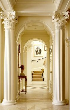 Architectural Columns by Melton Classics Incorporated. Professional and durable Architectural Columns to match any design or project. Interior Neoclásico, Interior Columns, Interior Garden, Classic Interior, Interior Decorating, Interior Design, Architecture Details, Interior Architecture, Beautiful Interiors