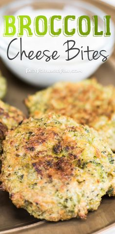 Cheesy Broccoli Bites -- Healthy snack idea for kids! Great appetizer or side dish, too. (VIDEO TUTORIAL and lots of pics) Fast Forward Fun