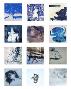 Love the color BLUE? See new blue drawings by artists from around the world who are selling their work on Saatchi Art.