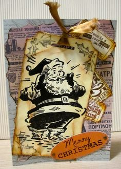 Christmas cards using Tim Holtz