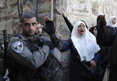 Oct. 13, 2014. Palestinians blocked from entering the Al-Aqsa Mosque compound, Islam's third most holy site, clash with Israeli security forces during a protest against Jews entering the compound for the week-long Jewish holiday of Sukkot, or Feast of Tabernacles in Jerusalem.