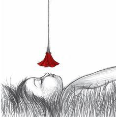 oliendo amapolas (by Noemi Villamuza) Black And White Illustration, Love Pictures, All Art, Art Boards, Find Art, Illustration Art, Art Illustrations, Illustrators, Poppies