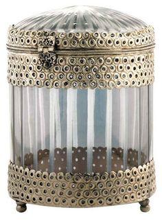 silver & glass box