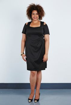 Plus Size Checker Tailoring Starlet Dress