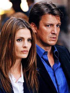 Kate Beckett and Richard Castle Fall Tv Shows, Best Tv Shows, Favorite Tv Shows, Castle Tv Series, Castle Tv Shows, Castle 2009, Castle Abc, Nathan Fillon, Richard Castle