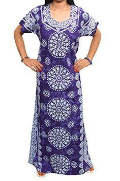 Mogul Womens Kaftan Caftan Batik Printed Cotton Nightgown Maxi Dress M Mogul Interior http://www.amazon.com/dp/B015FQDDIY/ref=cm_sw_r_pi_dp_LJv-vb07SH9EN