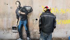 Banksy has addressed the ongoing refugee crisis in a series of new works created in and around Calais, including a mural featuring Steve Jobs.