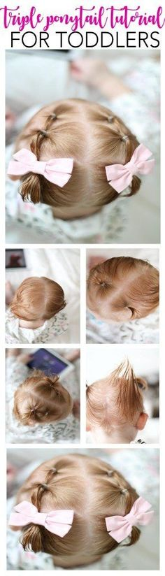 toddler hair ideas | toddler hair tutorials | baby hair styles | baby girl hair tutorials | easy baby hair styles | baby pony tail ideas | toddler hair style ideas