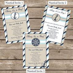 Nautical Baby Shower Invitation - Printable