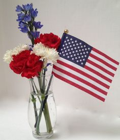 veterans day flag flower