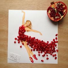 Armenian fashion illustrator Edgar Artis creates gorgeous dress designs with everyday objects he finds at home. From a Nutella dress, to paper clip garments, Edgar doesn't seem to be running out of ideas anytime soon. Fashion Design Drawings, Fashion Sketches, Fashion Illustrations, Creative Artwork, Everyday Objects, Art Floral, Designs To Draw, Food Art, Flower Art