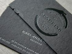Space150 V26 Business Cards  These business cards were  custom pasted triple layer stock with black then white middle.