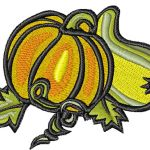Free Embroidery Design:  Harvest Pumpkins
