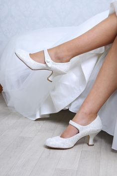 esta - Wedding Shoes - The Perfect Bridal Company Wide Fit Bridal Shoes, Lace Bridal Shoes, Wedding Shoes Bride, Wedding Shoes Heels, Wedding Dresses, Zapatos Mary Jane, National Wedding Show, Occasion Shoes, Low Heels
