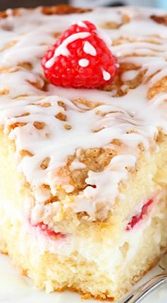Raspberry Cream Cheese Coffee Cake ~ To die for!