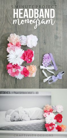 DIY Monogram Wall De