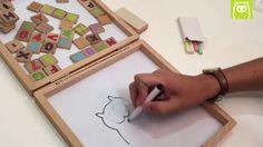 Pizarra portátil ideal para que los niños aprendan mientras se entretienen. Con esta pizarra de Eurekakids y la ayuda de los padres, los pequeños van a aprender en un plis plás a contar y a formar palabras.  Práctica para llevar a cualquier sitio.