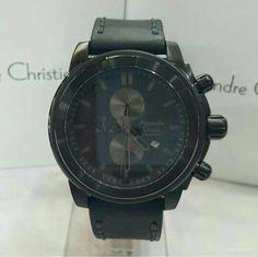 Jam Tangan Pria Alexandre Christie AC 6423 Full Black Original