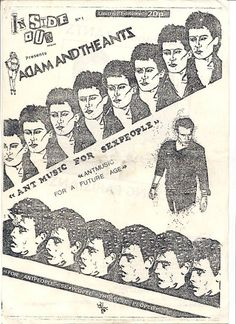Adam and the Ants punk concert flyer - late Concert Flyer, Concert Posters, Pretty Kitty, Pretty Cats, Ant Music, Rock Band Posters, New Flyer, Adam Ant, Tour Posters