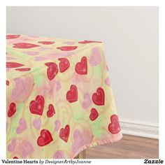 Shop Valentine Hearts Tablecloth created by DesignerArtbyJoanne. Valentine Hearts, Dog Bowtie, Tablecloths, Baby Shower Games, Table Linens, Art For Kids, Create Your Own, Wedding Gifts, Baby Kids