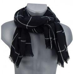 Eleganter Herrenschal schwarz weiß by Ella Jonte   #scarf #menscarf #menfashion