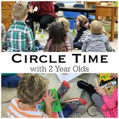 Are you wondering how to put together a circle time with 2 year olds? Here are tips from whats worked for me as well as other toddler teachers! Preschool 2 Year Old, 3 Year Old Activities, Circle Time Activities, Eyfs Activities, Nursery Activities, Toddler Learning Activities, Preschool Lessons, Classroom Activities, Family Activities