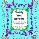 """Add+a+little+Halloween+pizzazz+to+your+printables/products+with+""""Swirly+Web+Borders.+Great+for+newsletters+and+flyers+too.  3+colors+(white,+green,..."""