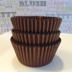 Chocolate Brown Cupcake Liners Professional by BakersBlingShop, $6.50