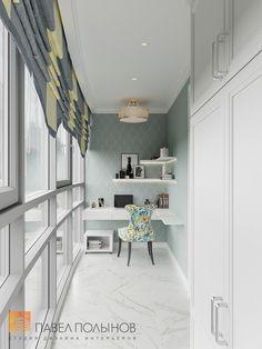 Фото: Рабочая зона на балконе - Квартира в стиле американской неоклассики, ЖК «Академ-Парк», 107 кв.м.