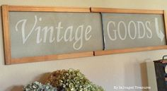 vintage goods stenciled vintage screen