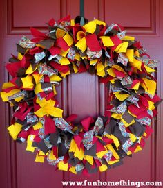 Yay it's September!! Time for fall projects. Rag wreaths are so easy to make and I love the pop of fall colors this one adds to my front door. Not gonna lie, cutting the strips of fabric was a little time consuming. But the good news is, that's about the hardest part of this project. …