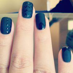 Matte black Gelish nails