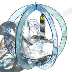 Windswept Sails Stained Glass 3D Sphere Large by katiediditglass